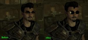 The image left shows the vanilla sunglasses, the right image shows the mirrored shades.