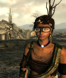 Wearing the console goggles